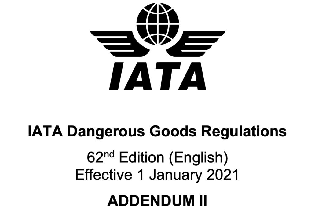 Correcties in bijlage II van 62e editie IATA DGR
