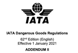 Correcties in bijlage II van 62e editie IATA DGR 1
