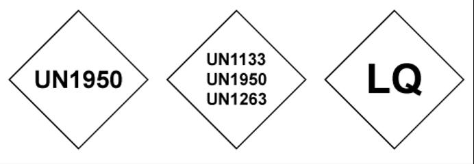 De huidige etiketten voor het vervoeren van gevaarlijke stoffen in Limited Quantities verschillen van de etiketten die vroeger gebruikt werden. Toch zie ik wel eens zendingen met zo'n 'oud' etiket. Is dat wel toegestaan? 1