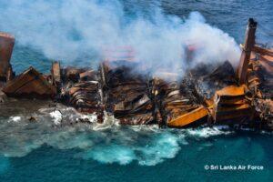 Containerschip X-Press Pearl gezonken voor Sri Lankaanse kust 1
