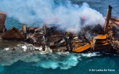 Containerschip X-Press Pearl gezonken voor Sri Lankaanse kust